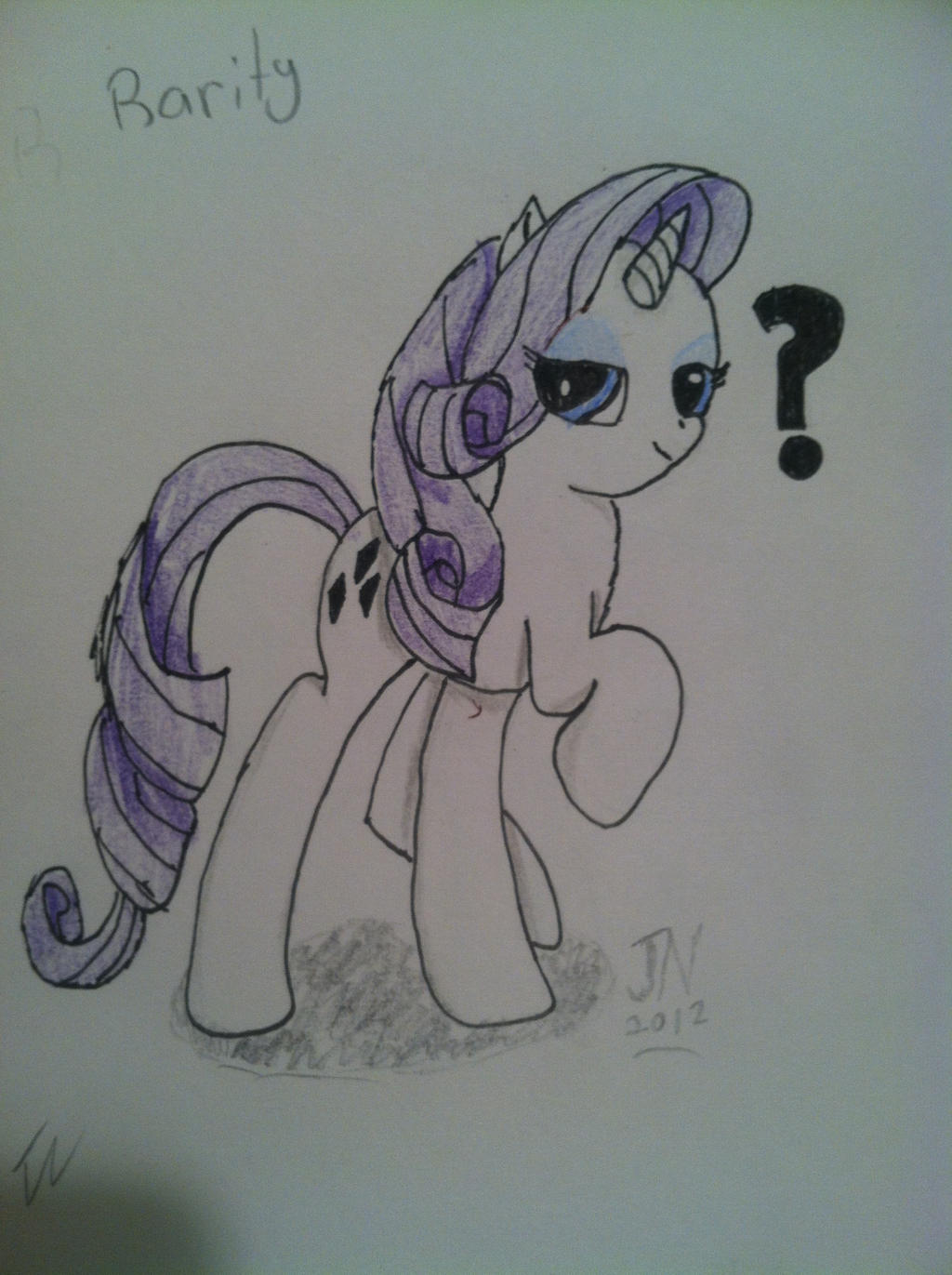 Rarity - Colored Pencil '?' by Zilford-the-legend