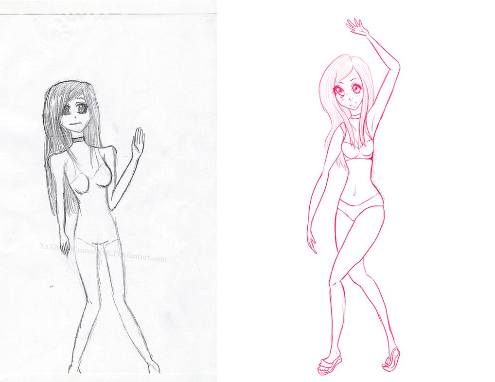 Waving Girl(Sketch Redo) by XxXNekoCrazedXxX