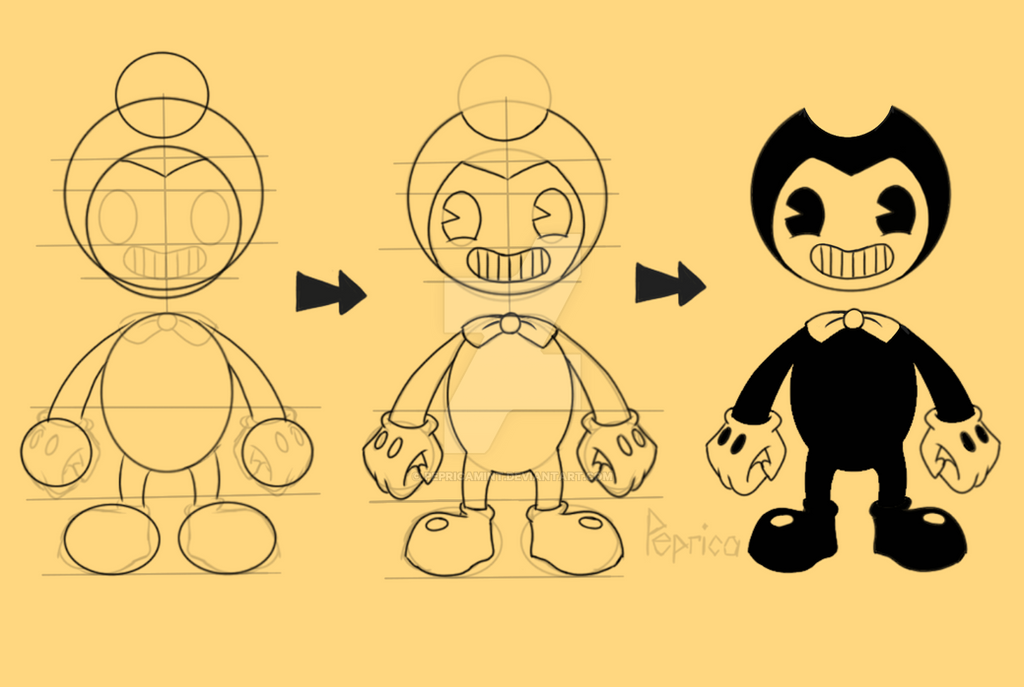 (BATIM) How to draw Bendy by pepricaMint on DeviantArt