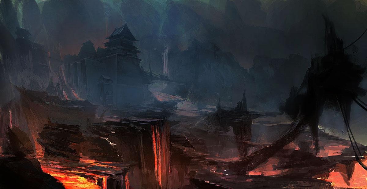 lava lake by artbybin