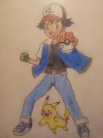 Ash and Pikachu by MangaBlock8