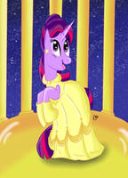 Disney Princess Twilight Sparkle (Belle) by KarToon12