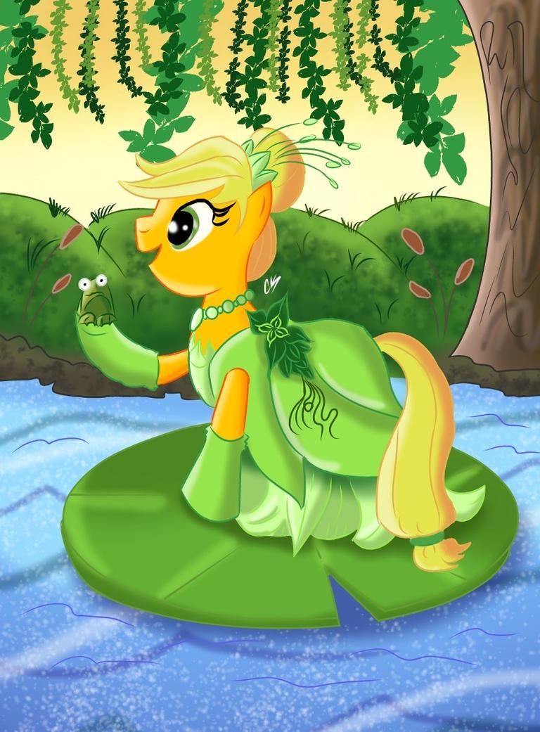 Disney Princess Applejack (Tiana) by KarToon12