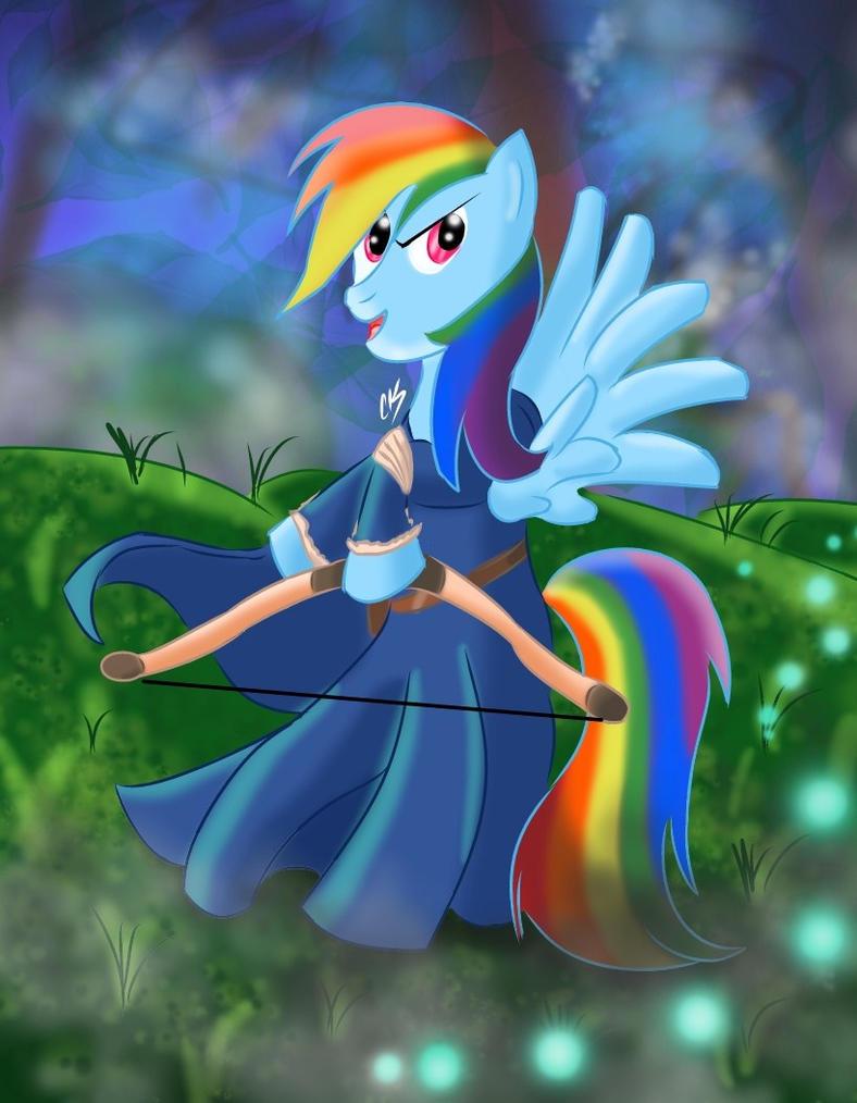 Disney Princess Rainbow Dash (Merida) by KarToon12