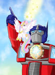 MLP/TF: Celestia and Optimus