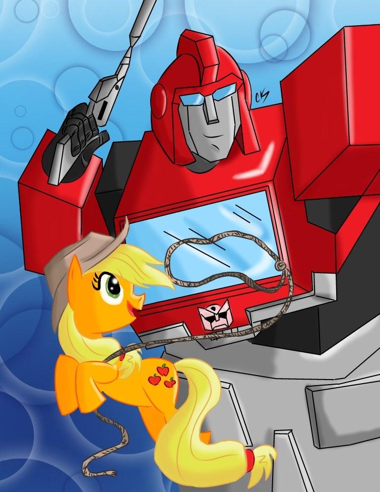 MLP/TF: Ironhide and Applejack by KarToon12