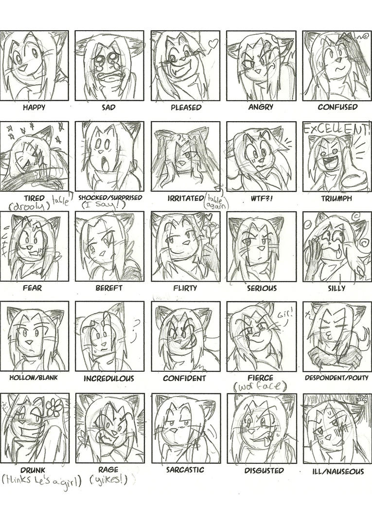 25 expressions: with Verm by Hamncheese95