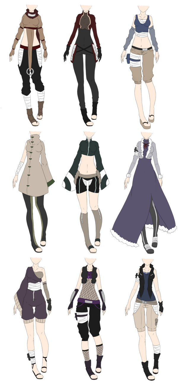 Naruto Outfit Adoptables 2 CLOSED by xNoakix3 on DeviantArt