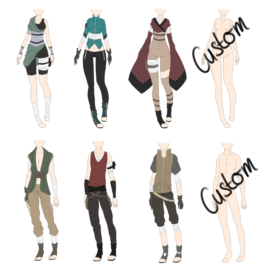 Naruto Outfit Adoptables 3 [CLOSED] by xNoakix3 on DeviantArt