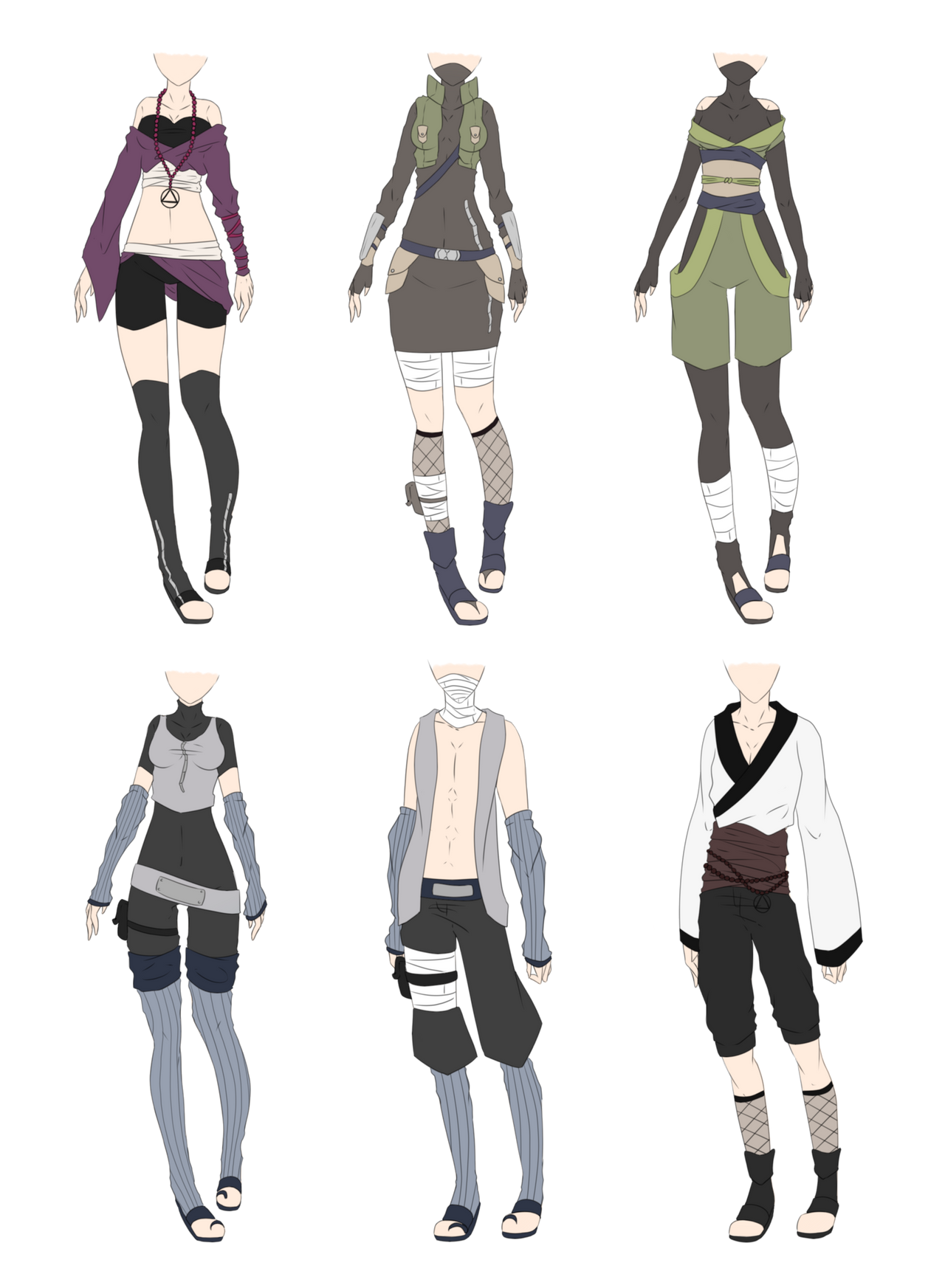 Naruto Outfit Adoptables 5 CLOSED by xNoakix3 on DeviantArt