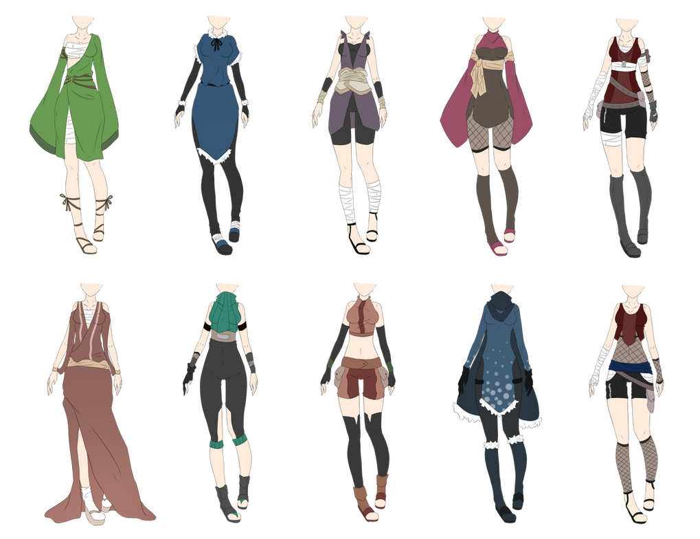 Naruto Outfit Adoptables 8 Closed By Xnoakix3 On Deviantart