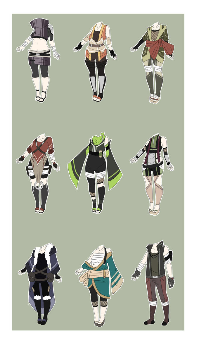Character Design Theme Generator : Naruto outfit adopts closed by xnoakix on deviantart