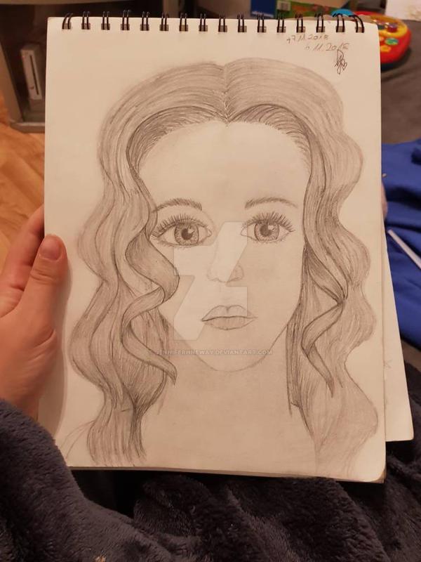 Portrait out of my thougts/brain.  by jenniferhneway