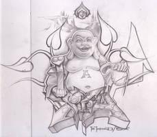 buddha sketch by itch1