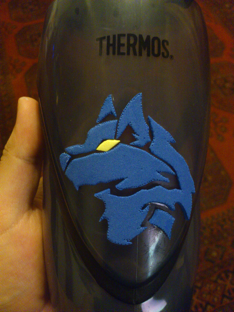 Thermos foam wolf by Silver-Gear