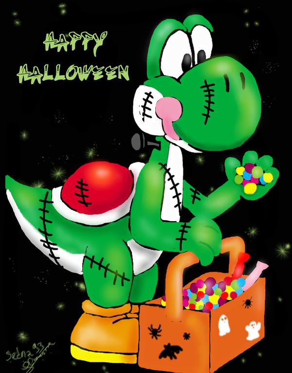 Yoshi_Happy Halloween by Sedna93