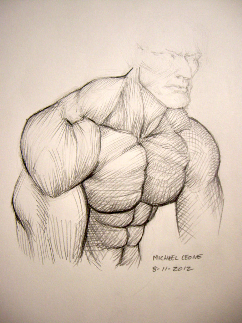 study of a male shoulder by myconius on DeviantArt