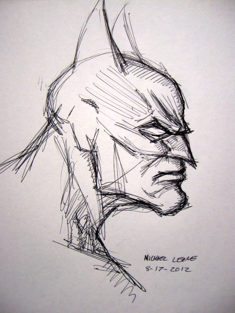 Batman Sketch In Ball Point Pen By Myconius On DeviantArt