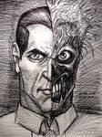 Two-Face (pen sketch)