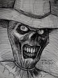 The Scarecrow (pen sketch) by myconius
