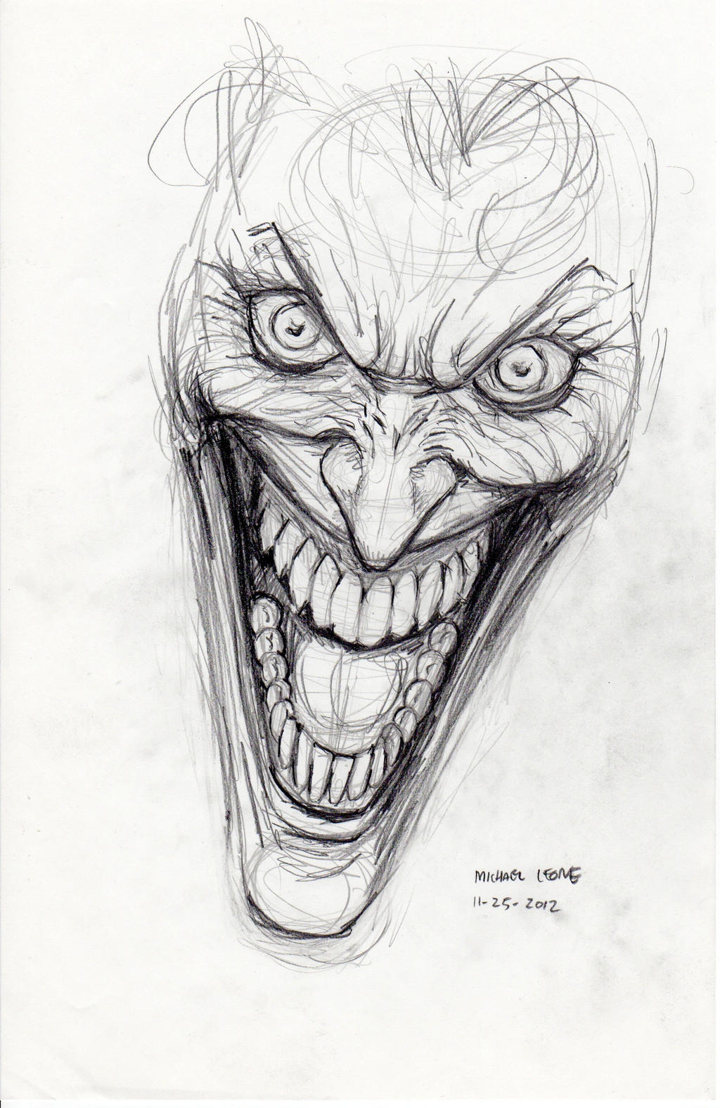 Devil Face Line Drawing : Joker sketch by myconius on deviantart