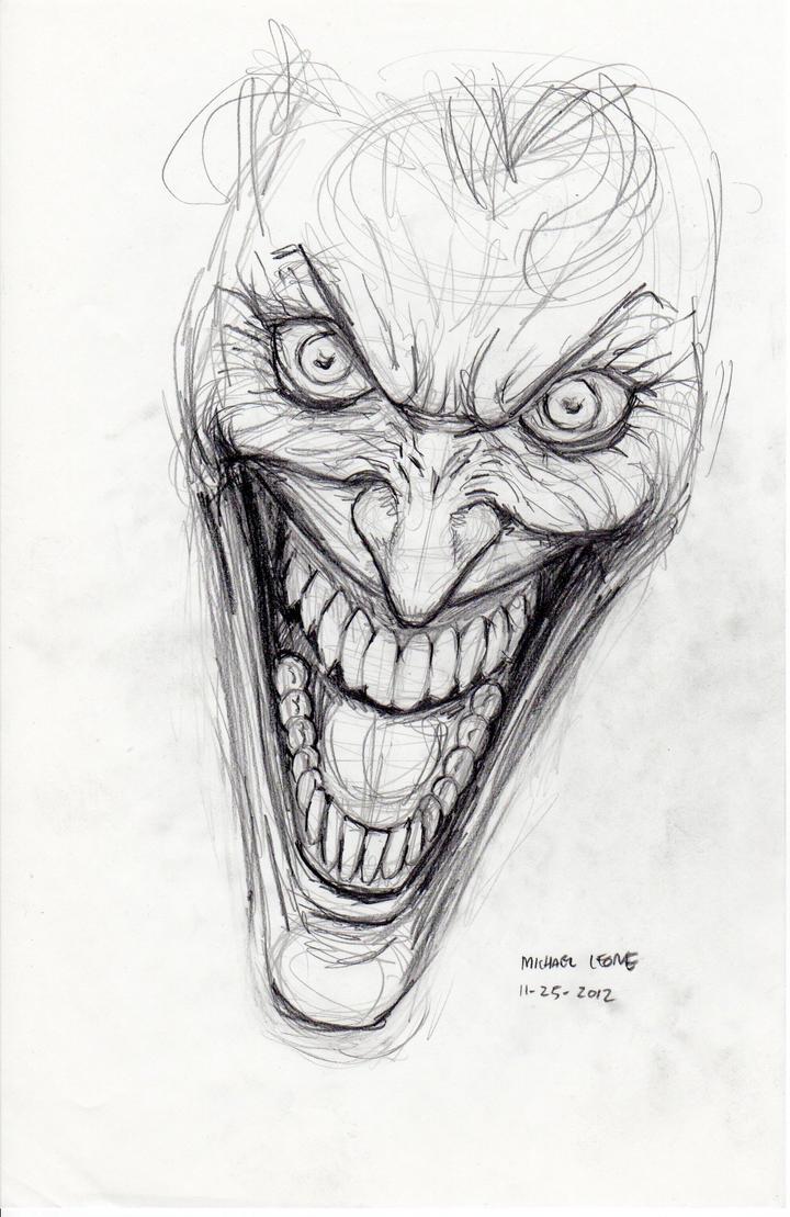 Line Drawing Artist Research : Joker sketch by myconius on deviantart