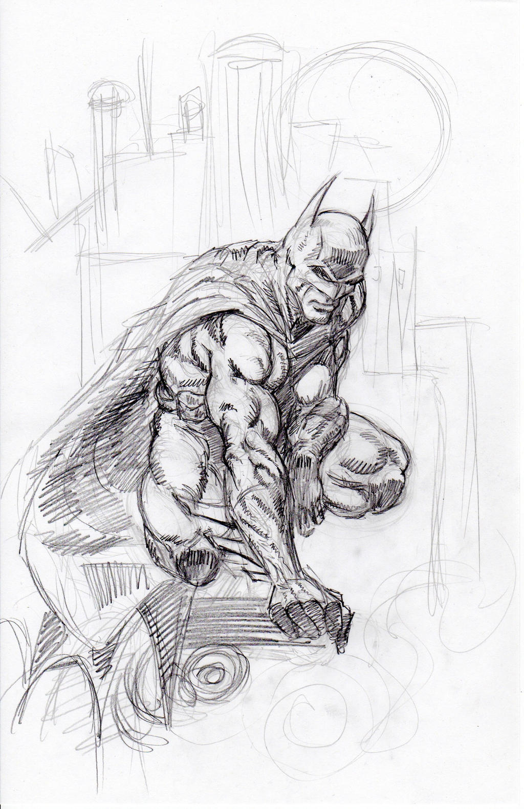 Finch Batman Sketch 11-26-2012