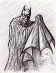Batman pen sketch 1-24-2013