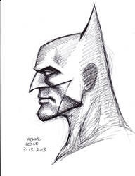 Batman Profile 3-13-2013 by myconius