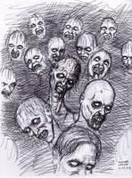 Zombie Pen Sketch 3-27-2013 by myconius