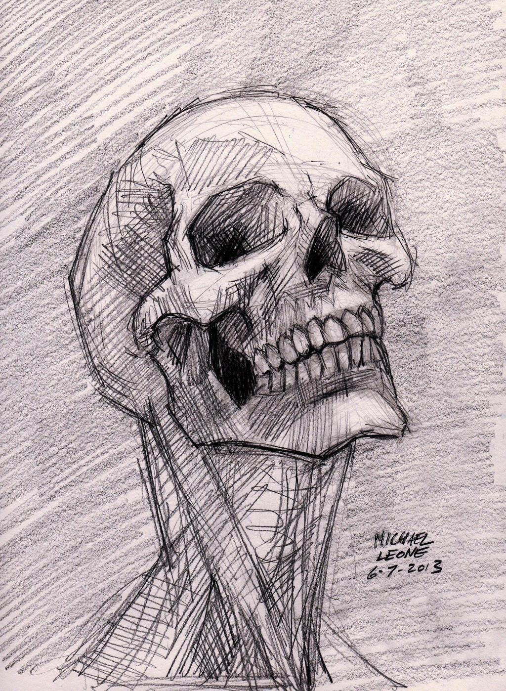 Skull sketch 6-7-2013