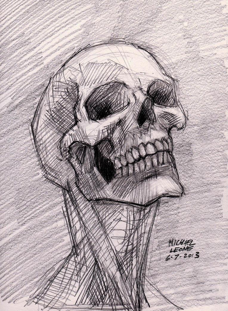 skull sketch 6 7 2013 by myconius on deviantart