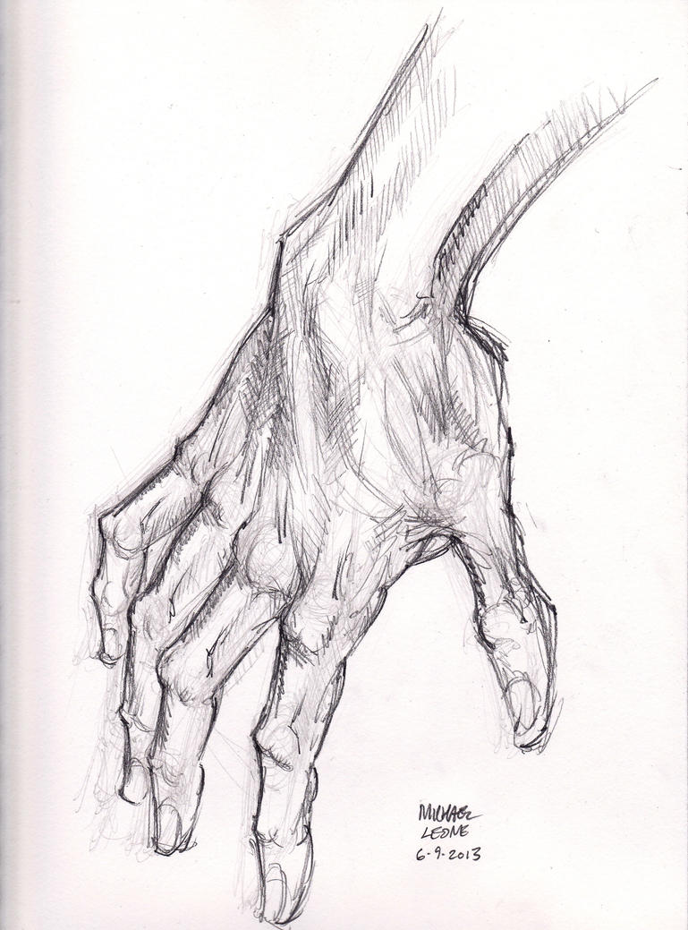 Hogarth Hand 6-9-2013 by myconius on DeviantArt