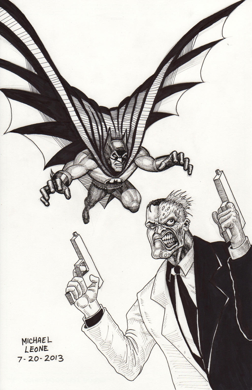 Batman Vs Two Face Coloring Pages Sketch Coloring Page