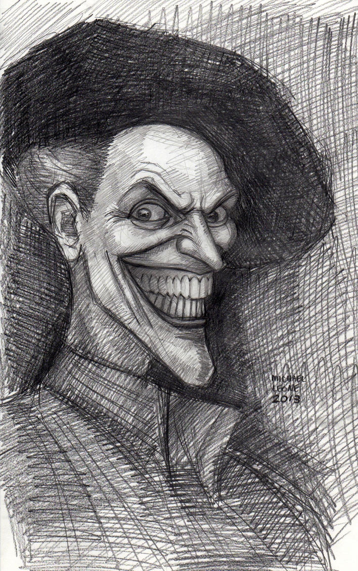 Joker Self Portrait (after Rembrandt) by myconius