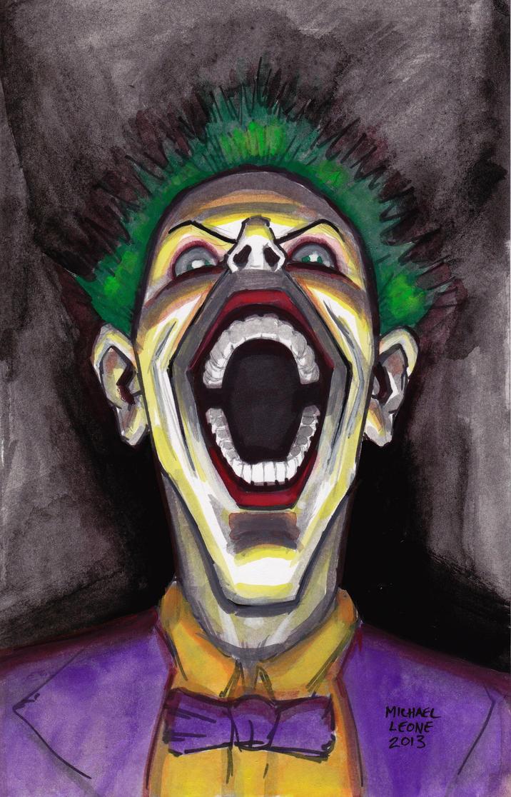 Joker Portrait 9-7-2013 by myconius