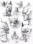Jim Lee Batman Studies 11-26-2013