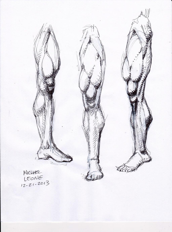 Leg study 12-21-2013 by myconius on DeviantArt
