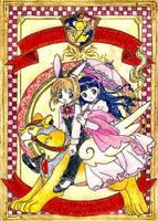 Sakura and Tomoyo poster by BluMochi