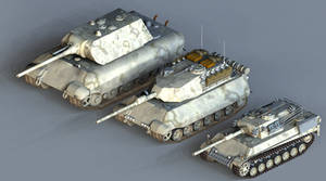 Heavy Prototype Tanks by 1Wyrmshadow1
