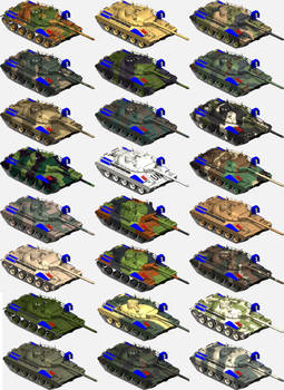 AMX-30 Cammoflague variations