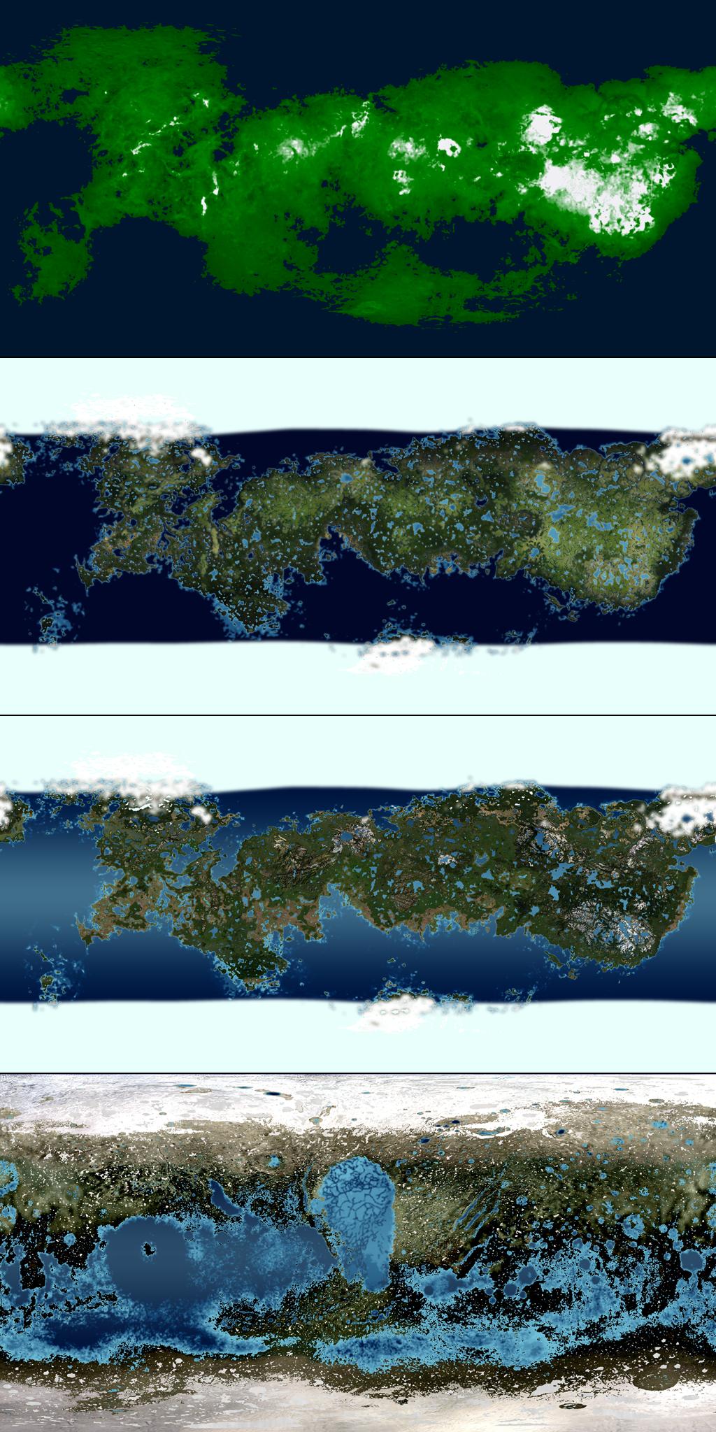 Terraformed Pluto Map Progression by 1Wyrmshadow1