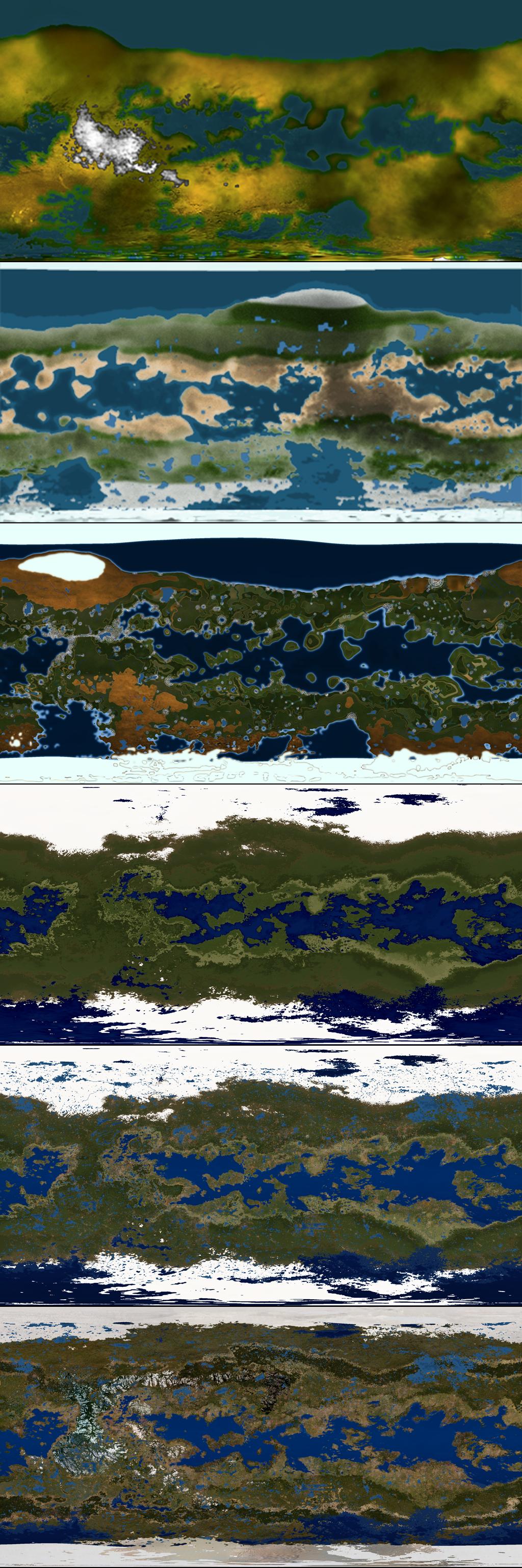 Terraformed Titan Map Progression by 1Wyrmshadow1