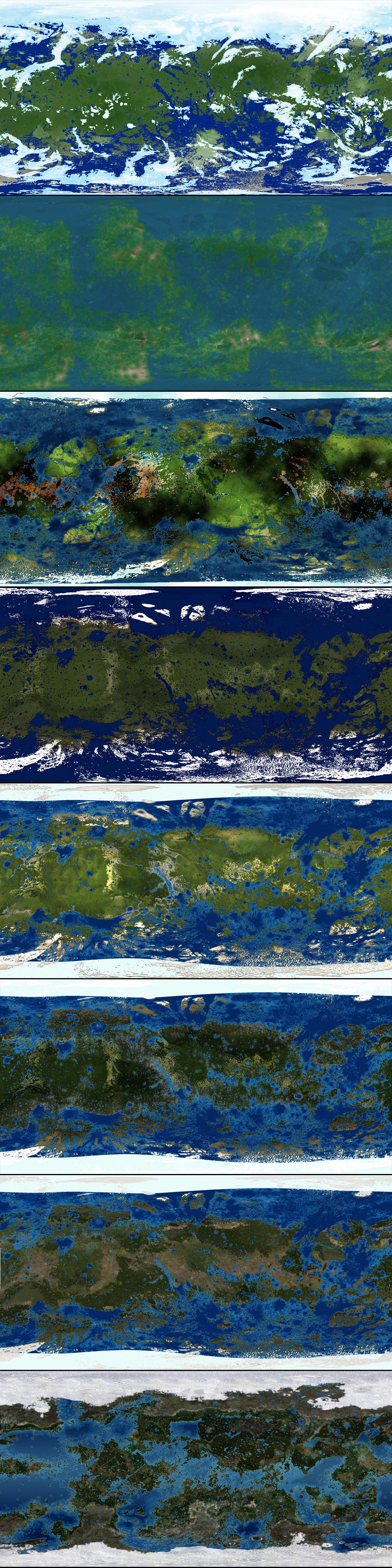 Terraformed Ganymede Map Progression by 1Wyrmshadow1