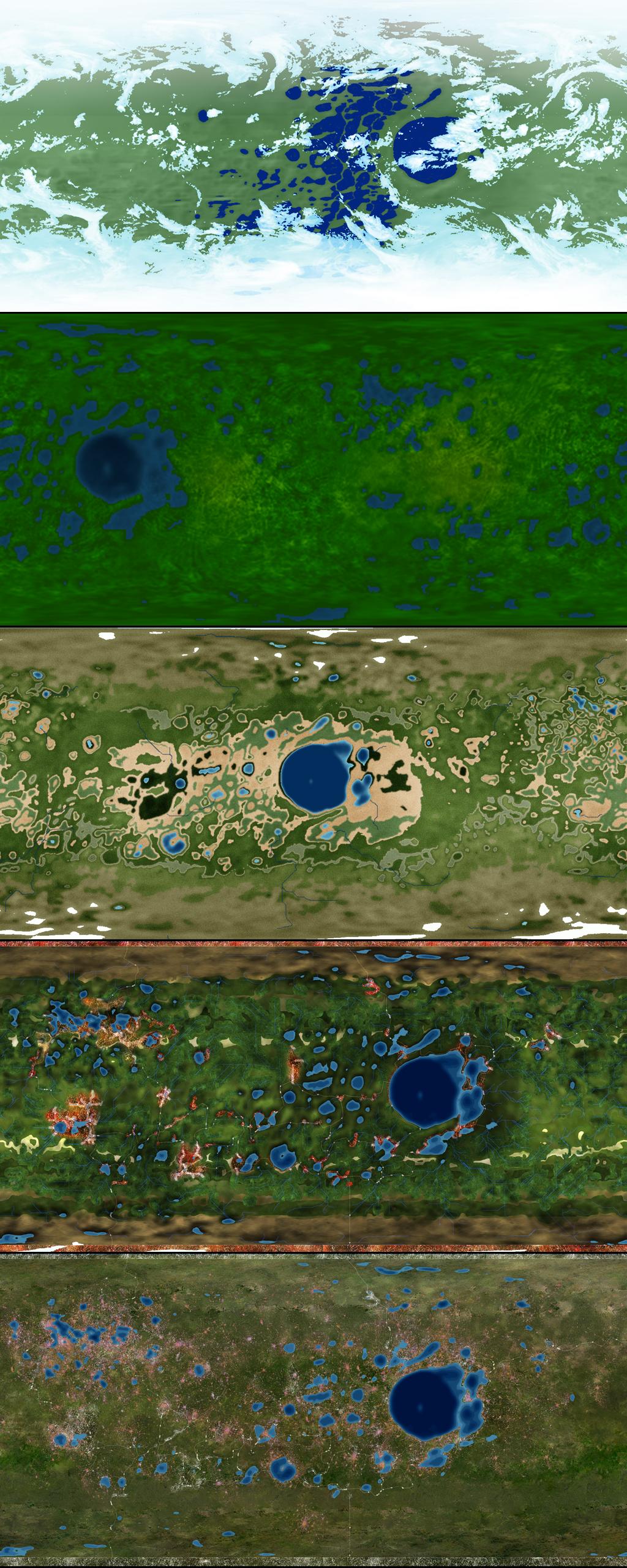 Terraformed Mimas Map Progression by 1Wyrmshadow1