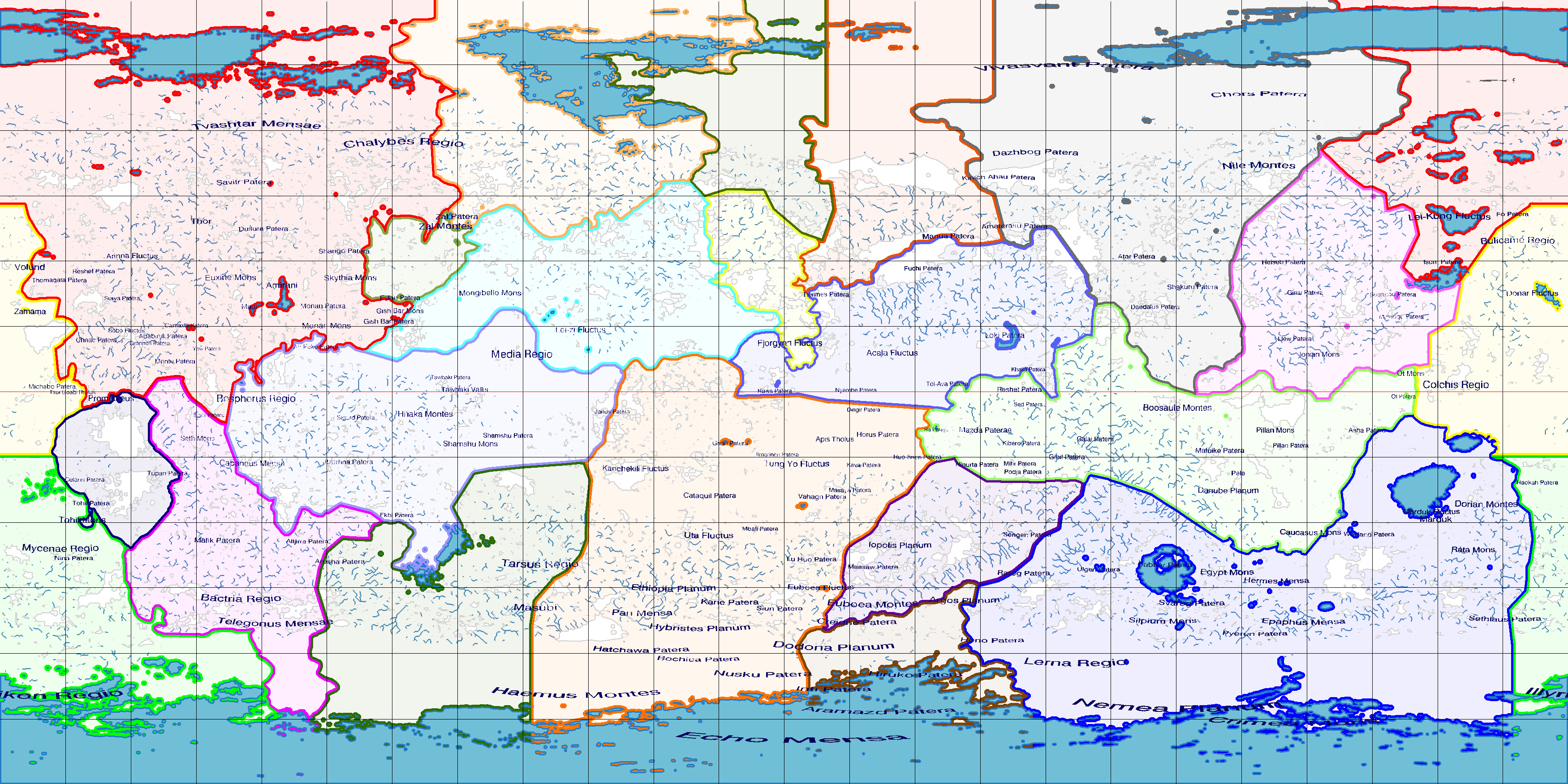 Io (Terraformed Jovian Moon) Political Map by 1Wyrmshadow1 ... on map of a, map of all, map or,