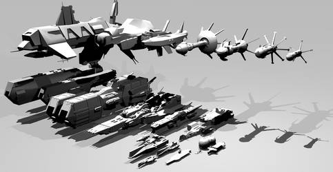 Robotech vs Battletech Fleet comparison by 1Wyrmshadow1