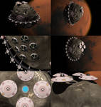 Terran Empire Phobos Shipyards beauty shots