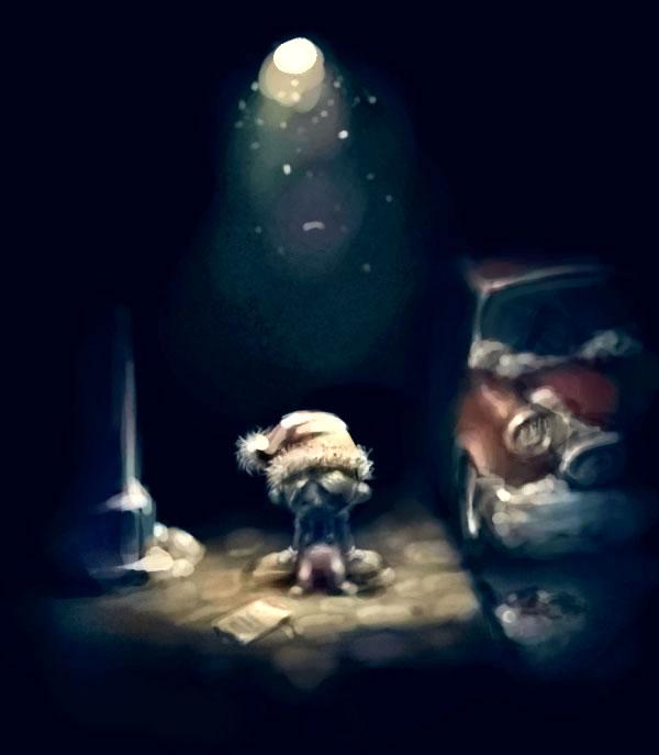 Lonely christmas by darkcruelfunnyworld on DeviantArt