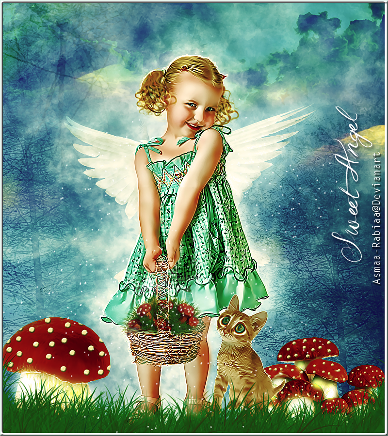 Sweet Angel by asmaa-rabiaa